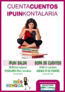 Haur ipuin kontalari: Ines Bengoa @ Lizarra (Kiroldegia)