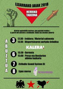 Festak: Herriko Taberna egitaraua @ Lizarra (Alde zaharra)