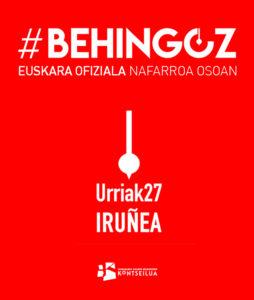 Behingoz (Kontseiluaren deialdia) @ Iruñea