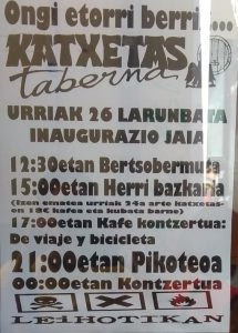 Katxetasen inaugurazio jaia @ Lizarra (Katxetas)