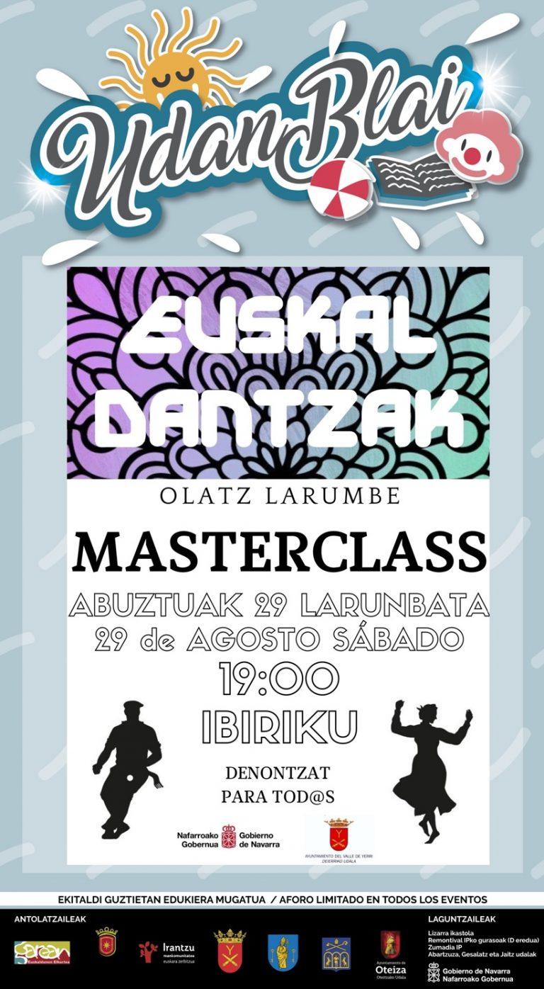 Euskal dantzak Masterclass