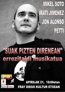 """""""Suak pizten direnean"""" errezitaldi musikatua @ Lizarra (Kultur Etxea)"""