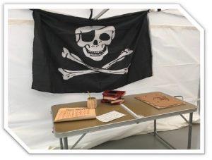"""Ihes gela: """"Piraten gordelekua"""" @ Villatuerta (kiroldegiko erabilera anitzeko aretoa)"""